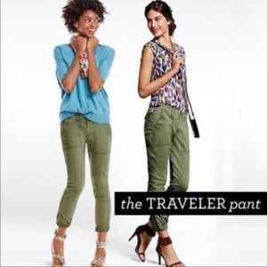 Anthropologie Cabi Olive Green Traveler Cargo Pant